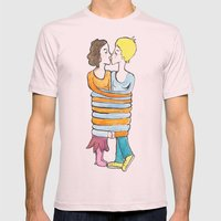 hold me tight Mens Fitted Tee Light Pink SMALL