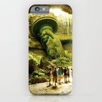 iPhone Cases featuring Journey to Lady Liberty by Steve McGhee