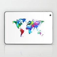 World map, watercolor map Laptop & iPad Skin