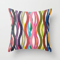 COLORFUL TRAVELS Throw Pillow