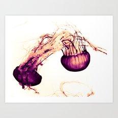 Intertwined Jellyfish Art Print
