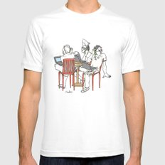 Let's meet for a coffee Mens Fitted Tee White SMALL