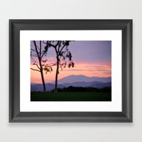 Saddleback Sunset Framed Art Print