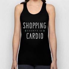 Shopping Counts As Cardio Unisex Tank Top