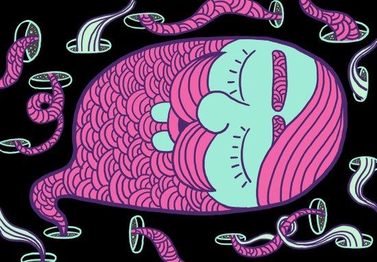 Sleepy Head (boy) Art Print