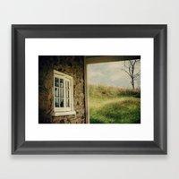 A Meadow View Framed Art Print