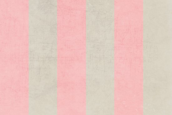 vintage pink stripes Art Print