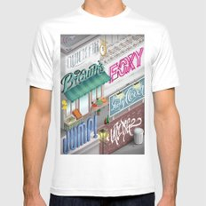 City Pangrams Mens Fitted Tee White SMALL