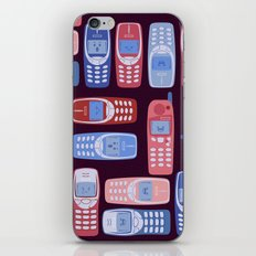 Vintage Cellphone Reactions iPhone & iPod Skin