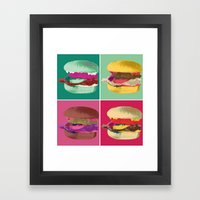 Pop Art Burger #2 Framed Art Print