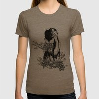 Aversion Womens Fitted Tee Tri-Coffee SMALL