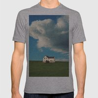 House on the Hill Mens Fitted Tee Athletic Grey SMALL