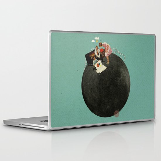 Life on Earth | Collage Laptop & iPad Skin