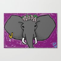A Purple Elephant Canvas Print