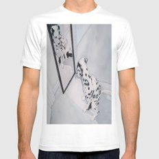 Roxie the Dalmatian 1 White SMALL Mens Fitted Tee