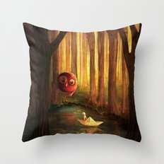 Forest Encounter Throw Pillow