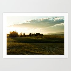 One July Evening Art Print