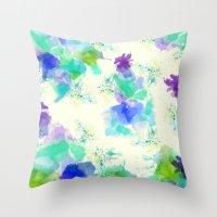 Printed Silk Ocean Spray Throw Pillow