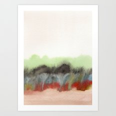 Watercolor abstract landscape 12 Art Print