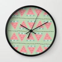 Watermelon Repeat Wall Clock