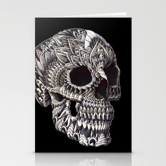 Ornate Skull Stationery Card