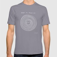 What to focus on - Happy (on black) Mens Fitted Tee Slate SMALL