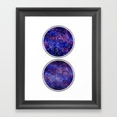 Star Maps Framed Art Print