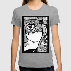 Warmi face Womens Fitted Tee Tri-Grey SMALL
