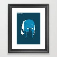 Manhunter Psycho Blue Framed Art Print