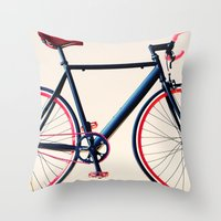Tour de France, Giro d'Italia, Bicycle Throw Pillow