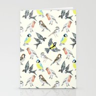 Illustrated Birds Stationery Cards