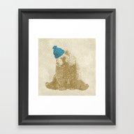 Framed Art Print featuring Snow Bear by Rskinner1122