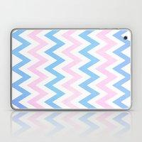 Blue Pink Chevron Patter… Laptop & iPad Skin