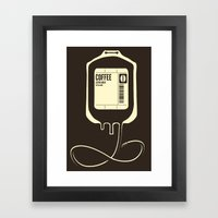 Coffee Transfusion Framed Art Print