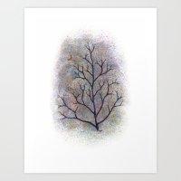 maine has trees Art Print