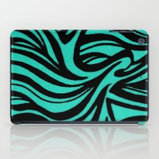 Blue & Black Waves iPad Case