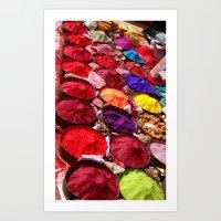Indian Powders Art Print