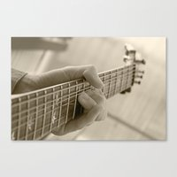 Play That Guitar Canvas Print