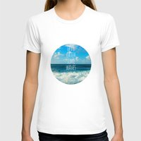 Wave Catcher Womens Fitted Tee White SMALL