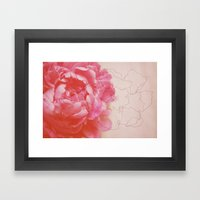 pink milk Framed Art Print