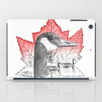Canada Goose on Maple Leaf (with some red) iPad Case