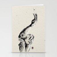 Karate Sloth Stationery Cards