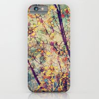 iPhone & iPod Case featuring Seasons Circles and Cubes by V. Sanderson / Chickens in the Trees