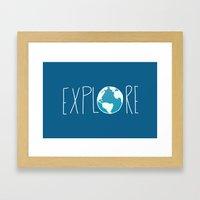 Explore the Globe Framed Art Print