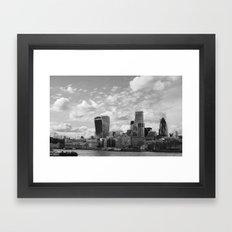 London Skyline on the River Thames Framed Art Print