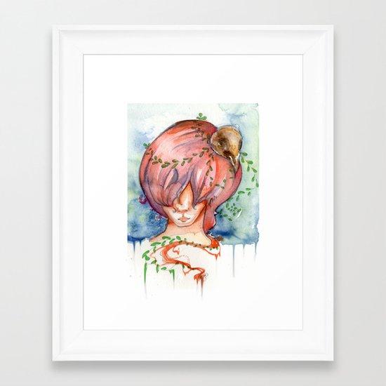 melting slowly Framed Art Print
