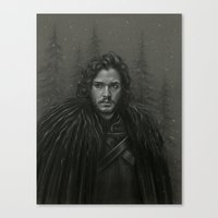 KING IN THE NORTH Canvas Print