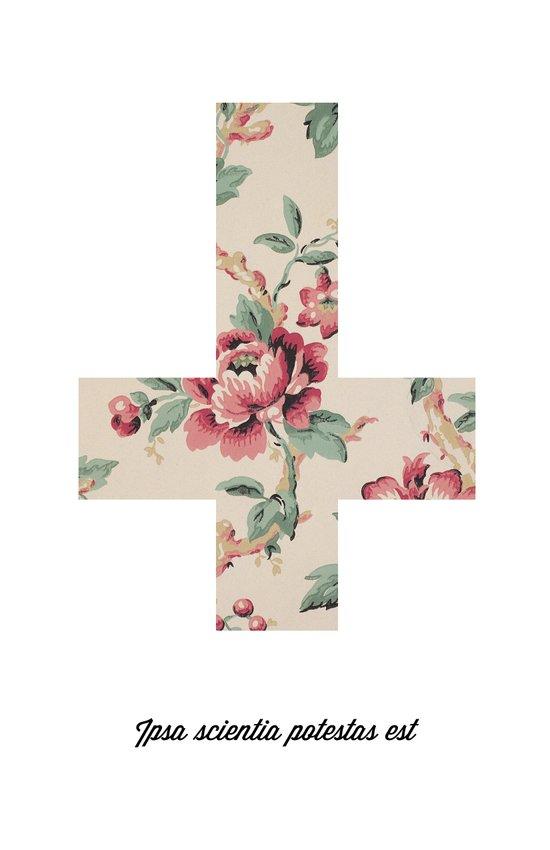 Flower Cross Art Print