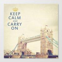 Keep Calm London Canvas Print