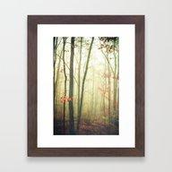 The Woods Are Lovely Dar… Framed Art Print